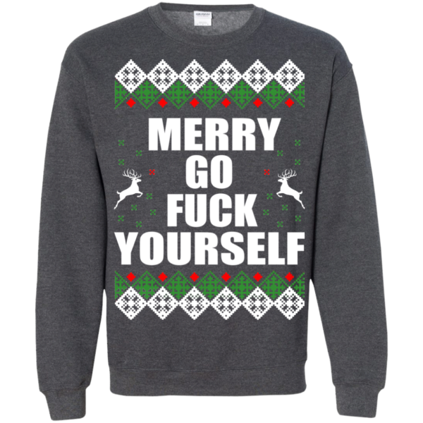 Merry Go Fuck Yourself Christmas Sweater