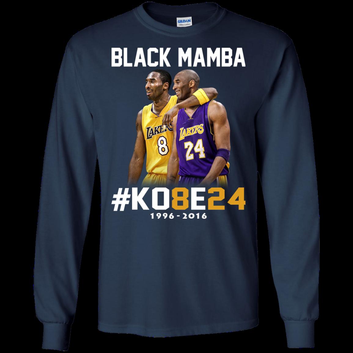 582896458ce Kobe Bryant 24 Black Mamba Shirt