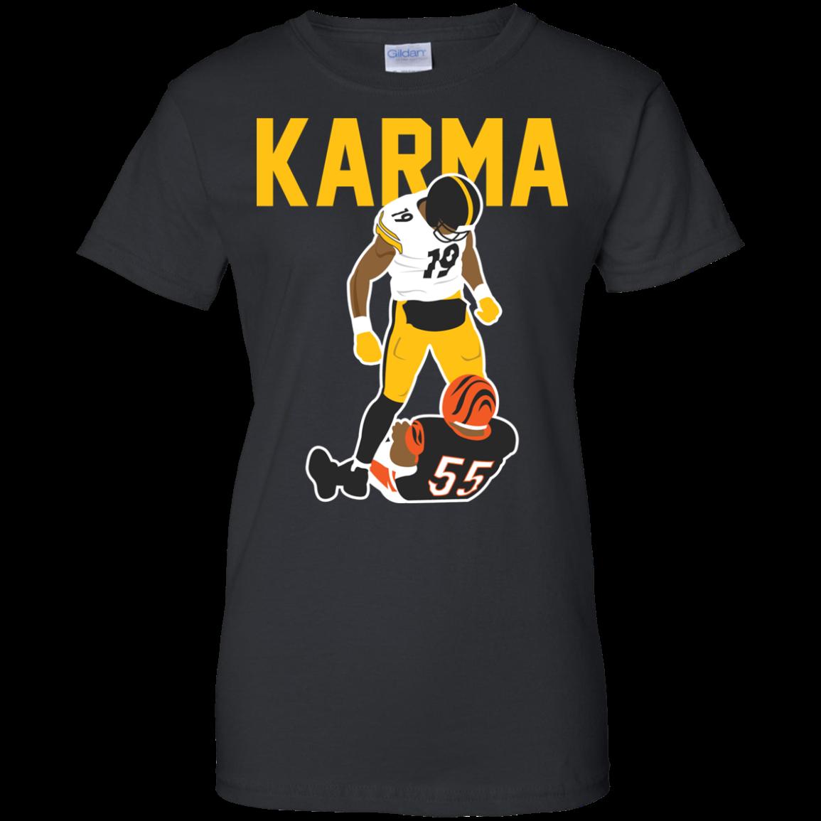 on sale f5150 c89e1 Steelers Karma JuJu Smith-Schuster Vontaze Burfict T-shirt