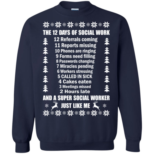 The 12 Days Of Social Work Shirt, Sweatshirt