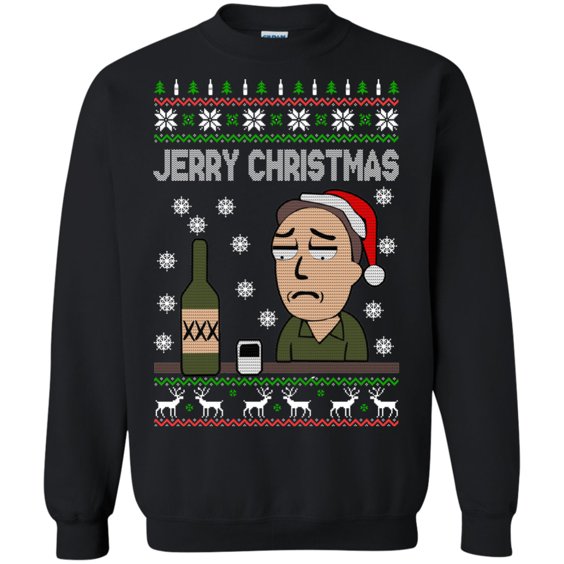 Rick And Morty - Jerry Christmas Sweater | Allbluetees.com