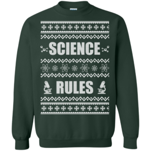 Science Rules Christmas Sweater