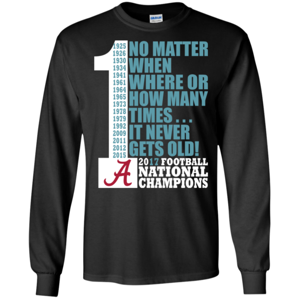 Alabama Crimson Tide – No Matter When Where Or How Many Time Shirt, Hoodie