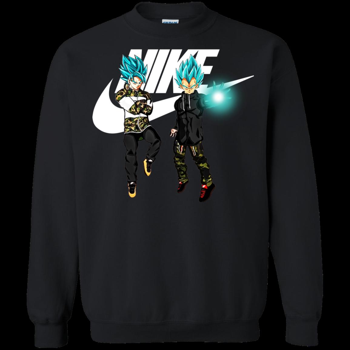 código Morse Cilios Pigmento  Goku And Vegeta Nike Shirt, Hoodie, Tank   Allbluetees.com