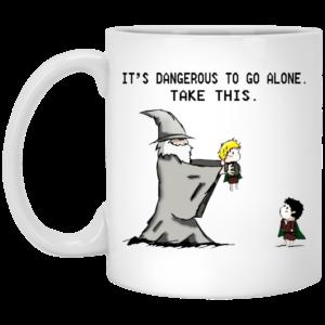 Hobbit – It's Dangerous To Go Alone – Take This Mugs