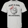 Just A Girl Who Loves Baseball Shirt, Hoodie, Tank