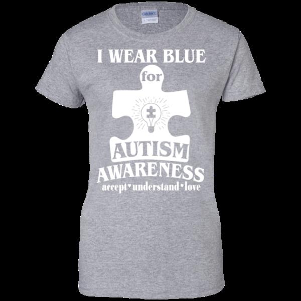 I Wear Blue For Autism Awareness Shirt, Hoodie, Tank