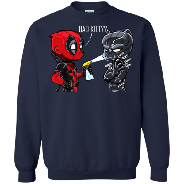 Deadpool And Black Panther – Bad Kitty Shirt, Hoodie, Tank