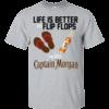 Life Is Better In Flip Flops With Captain Morgan Shirt, Hoodie