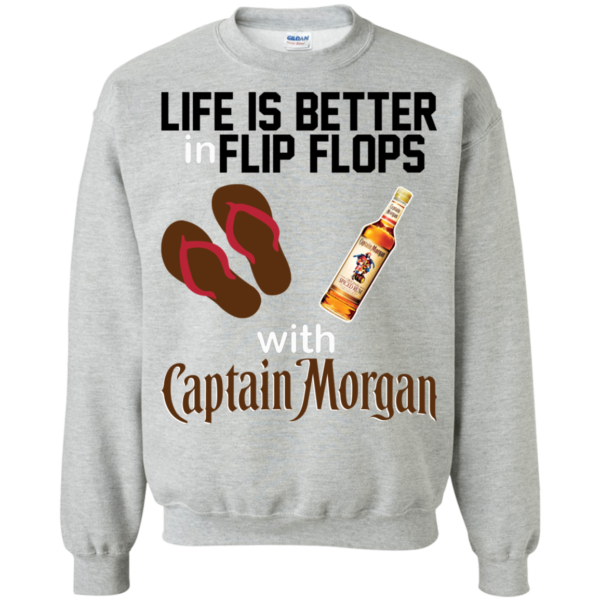Life Is Better In Flip Flops With Captain Morgan Shirt, Hoodie