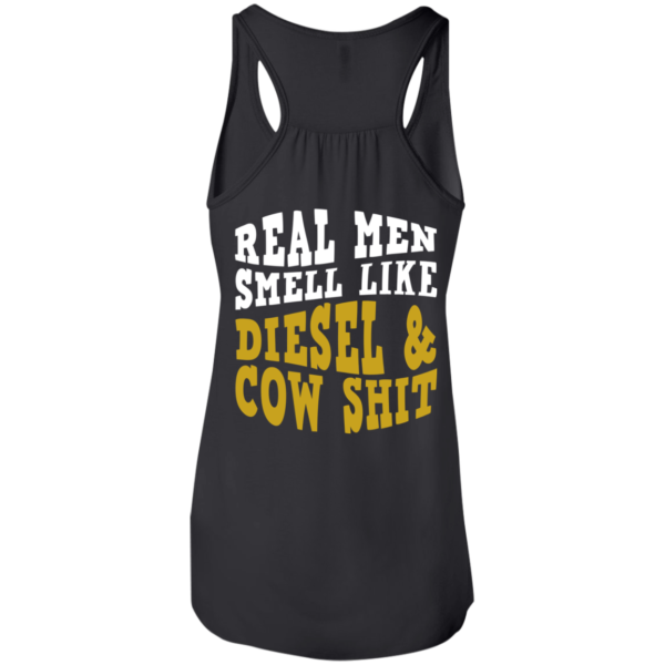 Real Men Smell Like Diesel And Cow Shit Shirt – Back Design