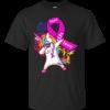 Unicorn Dabbing – Breast Cancer Hope Faith Love Shirt, Hoodie