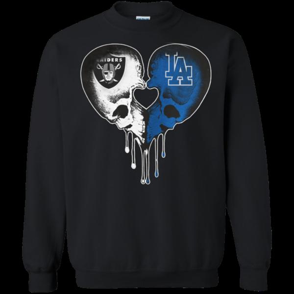 Raiders – Dodgers Skull Love Shirt, Hoodie, Tank