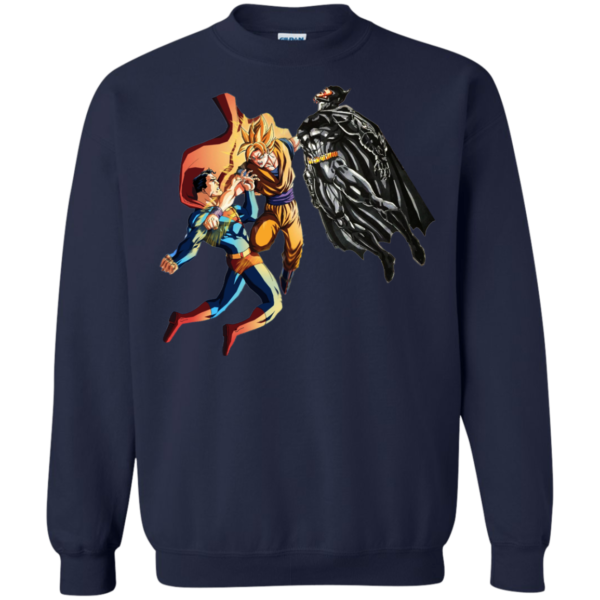 Dragon Ball – Goku vs Superman And Batman Shirt, Hoodie