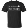 My Dog Makes Me Happy – Humans Make My Head Hurt Shirt