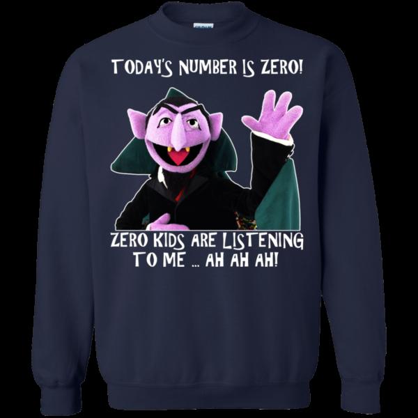 Count von Count – Today's Number Is Zero Shirt, Hoodie