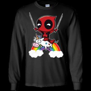 Deadpool Riding Unicorn Shirt, Hoodie, Tank