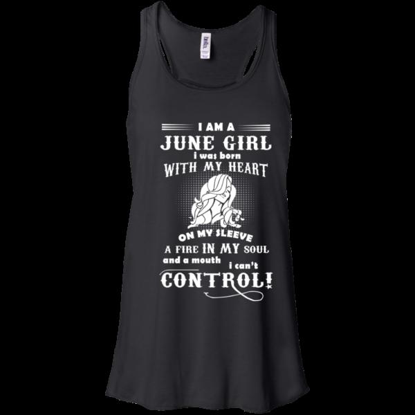 I'm A June Girl I Was Born With My Heart On My Sleeve Shirt