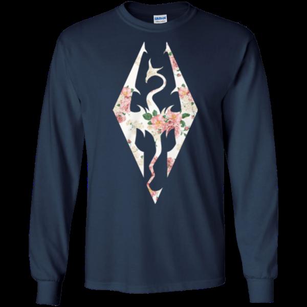 The Elder Scrolls V – Skyrim Logo Flower Shirt, Hoodie