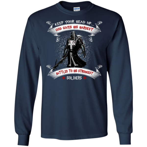 Keep Your Head Up God Gives His Hardest Shirt, Hoodie