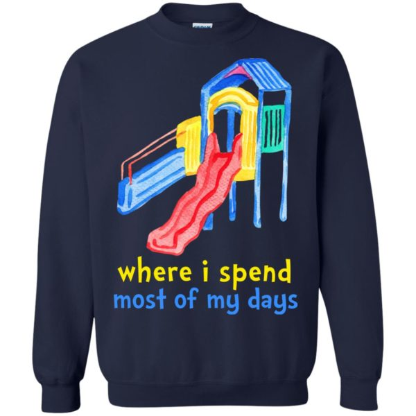 Where I Spend Most Of My Days Shirt, Hoodie