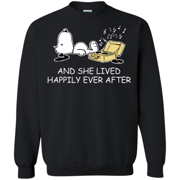 Snoopy – And She Lived Happily Ever After Shirt, HoodieSnoopy – And She Lived Happily Ever After Shirt, Hoodie