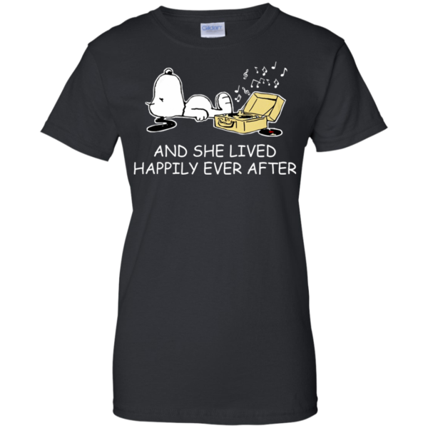 Snoopy – And She Lived Happily Ever After Shirt, Hoodie