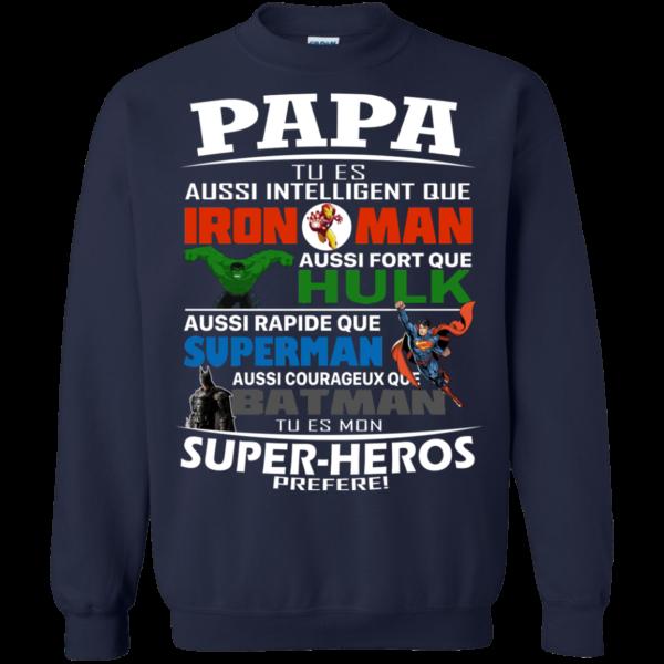 Papa Tu es Aussi Intelligent Que Iron Man Shirt, Hoodie