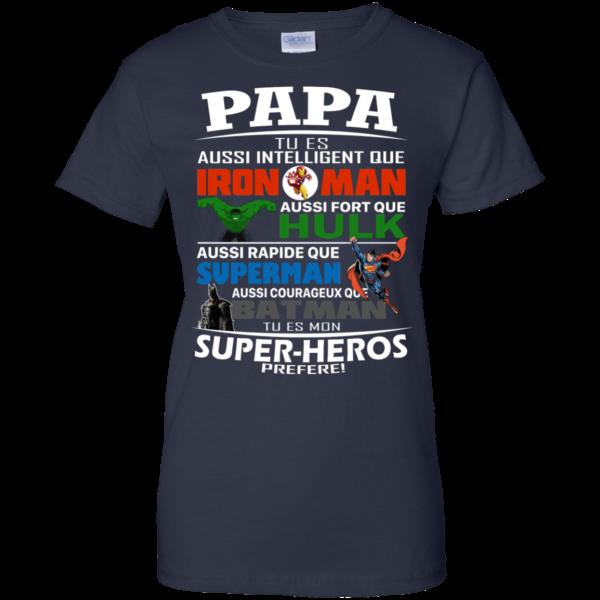Papa Tu es Aussi Intelligent Que Iron Man Shirt, HoodiePapa Tu es Aussi Intelligent Que Iron Man Shirt, Hoodie