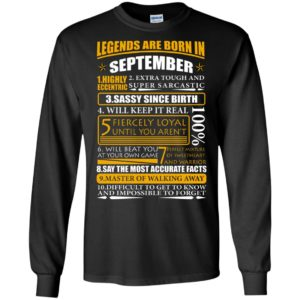 Legends Are Born In September – Highly Eccentric Shirt
