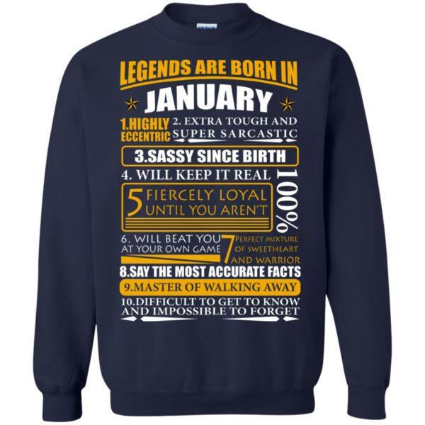 Legends Are Born In January – Highly Eccentric Shirt