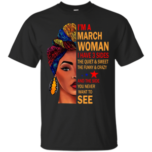 I'm A March Woman – The Quiet & Sweet – The Funny & Crazy Shirt