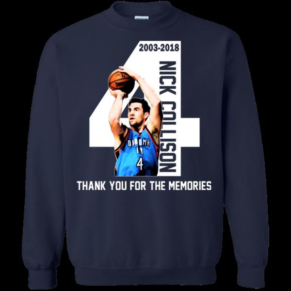 Nick Collison – Thank You For The Memories – 2003-2018 Shirt