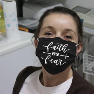 Faith Over Fear Cloth Face Mask