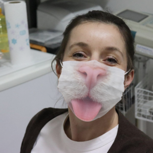 Little Cat Nose And Tongue Cloth Face Mask