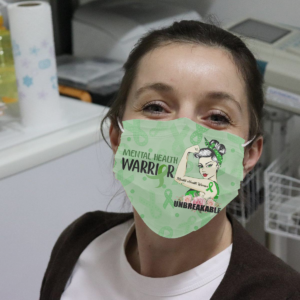Mental Health Awareness Unbreakable Cloth Face Mask