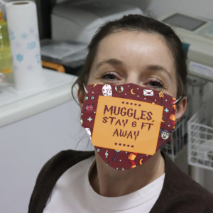 Muggles Stay 6 Ft Away Cloth Face Mask