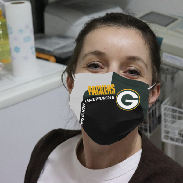 Packers - This Is How I Save The World Cloth Face Mask