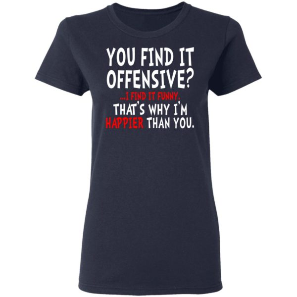 You Find It Offensive I Find It Funny Shirt
