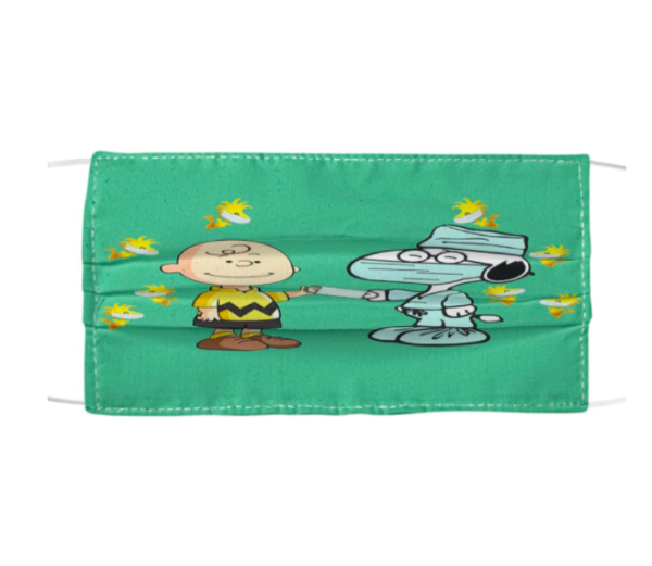 Snoopy Nurse And Charlie Brown Cloth Face Mask