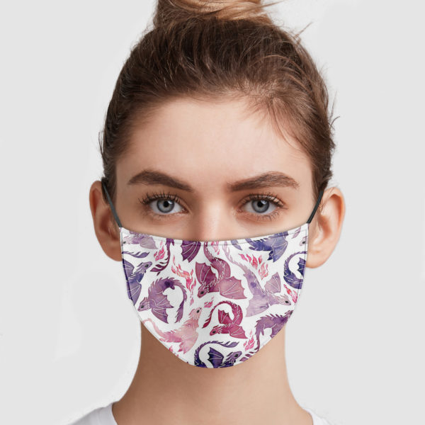 Dragon Fire Pink And Purple Face Mask