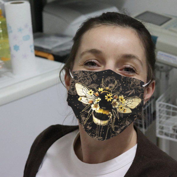 Bee And Flower Cloth Face Mask