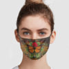 Butterfly And Flower Vintage Face Mask