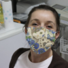 Cat And Flower Cloth Face Mask