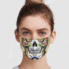 Day Of The Dead Skull Face Mask