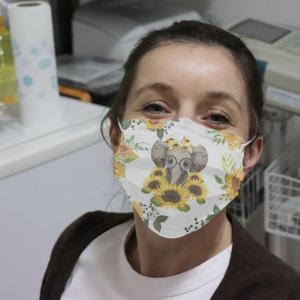 Elephant Sunflower Cloth Face Mask