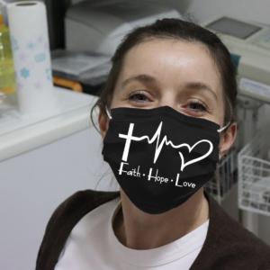 Faith Hope Love Cloth Face Mask