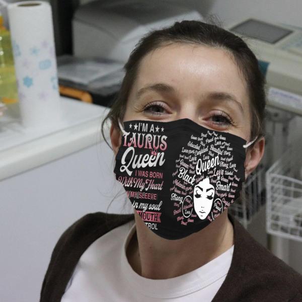 I'm A Taurus Queen Cloth Face Mask