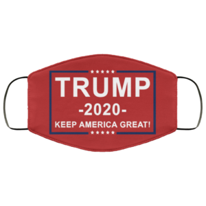 Trump 2020 Keep America Great Red Face Mask