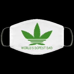 World's Dopest Dad Face Mask